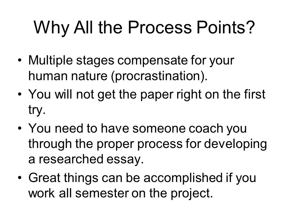 Why All the Process Points