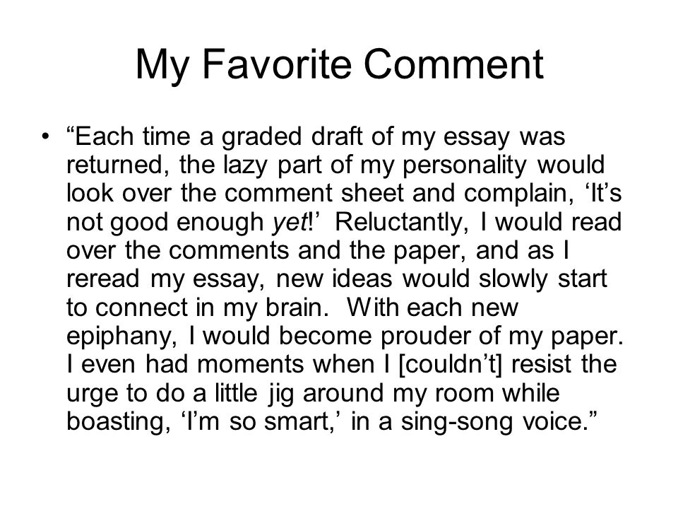 My favorite person essay