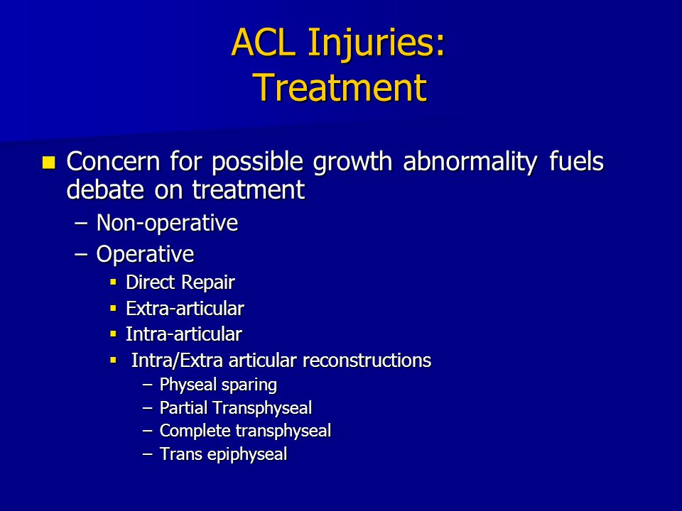 ACL Injuries: Treatment