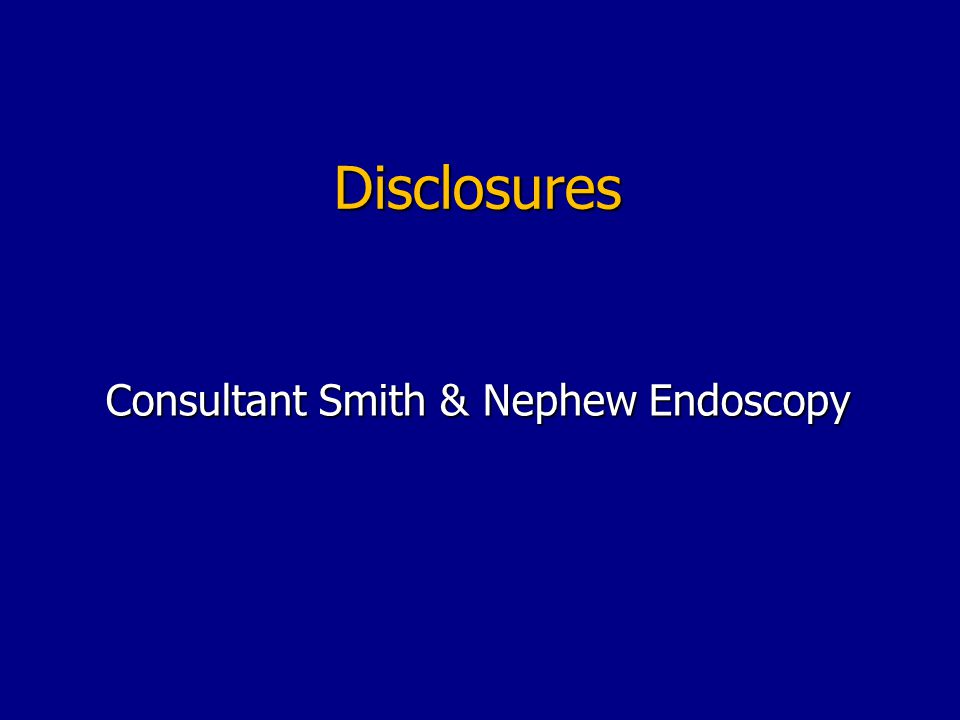 Consultant Smith & Nephew Endoscopy