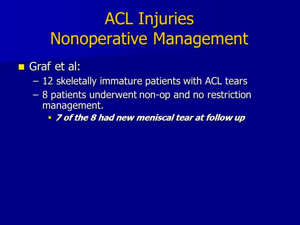 ACL Injuries Nonoperative Management