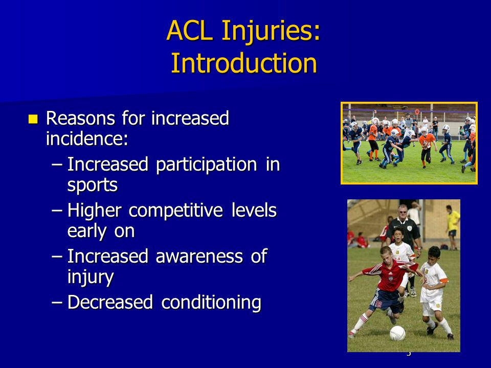 ACL Injuries: Introduction