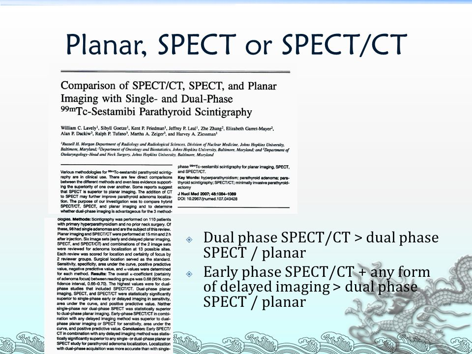 Planar, SPECT or SPECT/CT