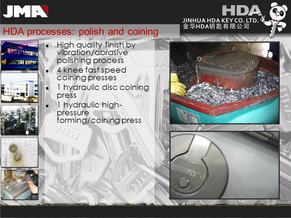 HDA processes: polish and coining