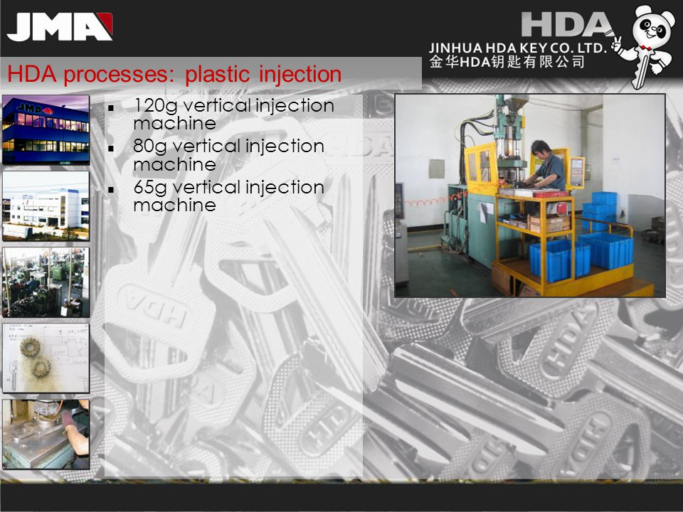 HDA processes: plastic injection