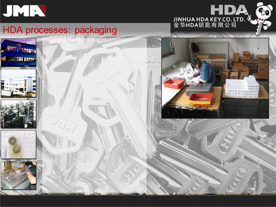 HDA processes: packaging