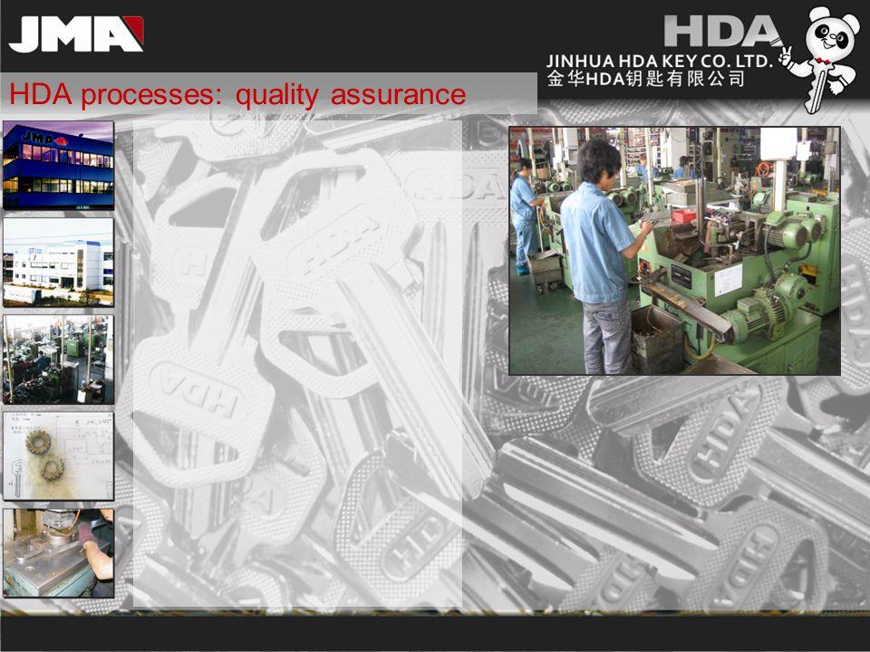 HDA processes: quality assurance