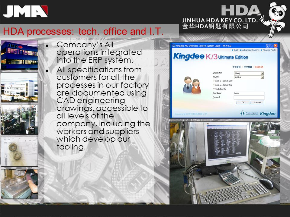 HDA processes: tech. office and I.T.