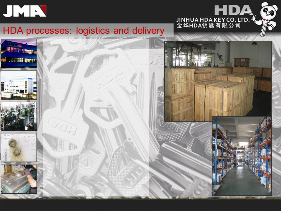 HDA processes: logistics and delivery