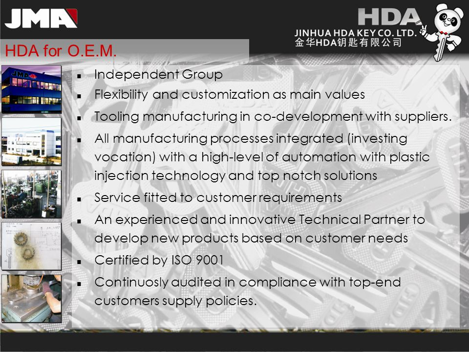 HDA for O.E.M. Independent Group