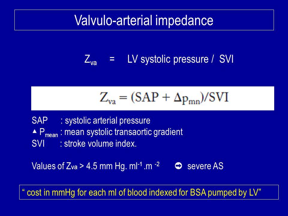 Valvulo-arterial impedance