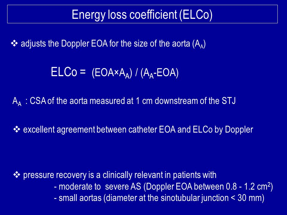 Energy loss coefficient (ELCo)