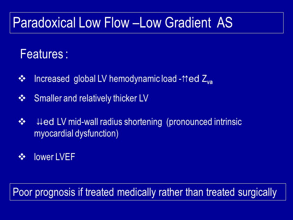 Paradoxical Low Flow –Low Gradient AS