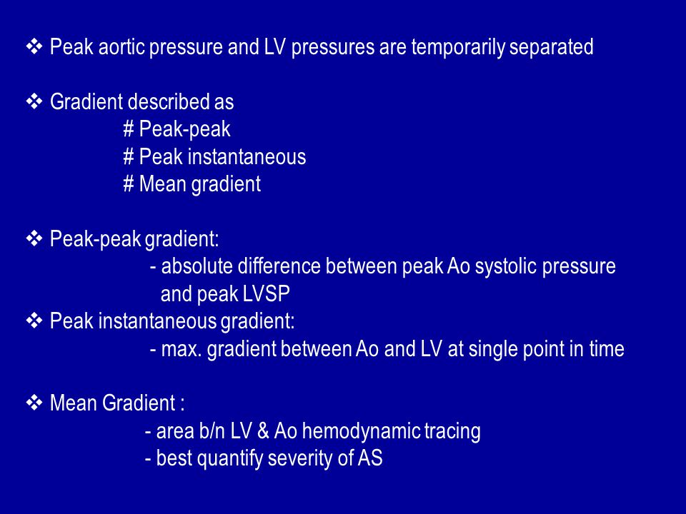 Peak aortic pressure and LV pressures are temporarily separated