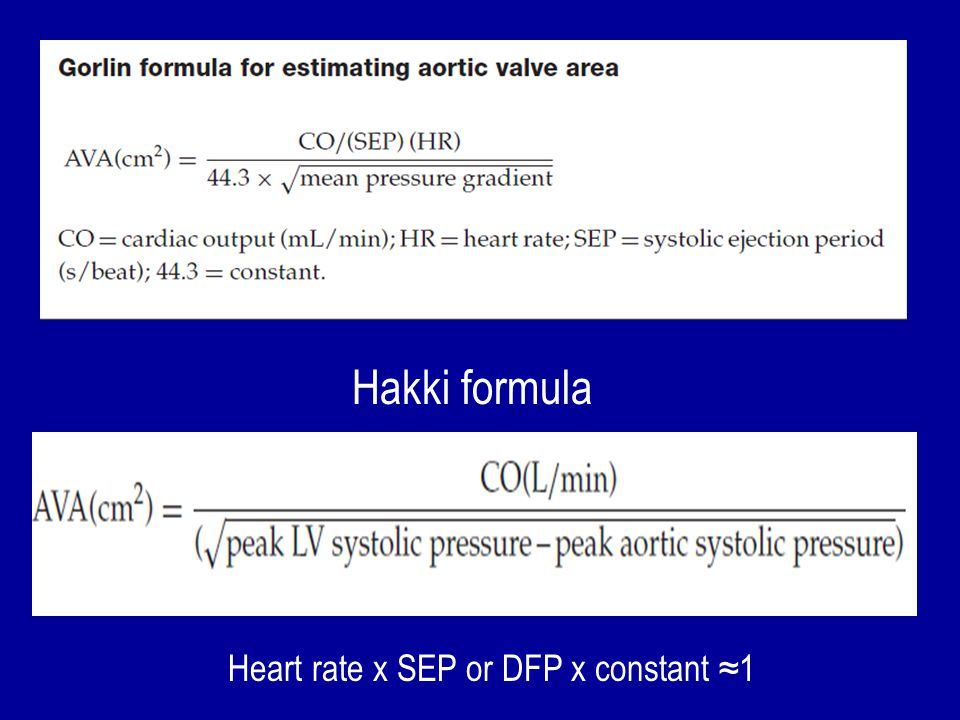 Heart rate x SEP or DFP x constant ≈1