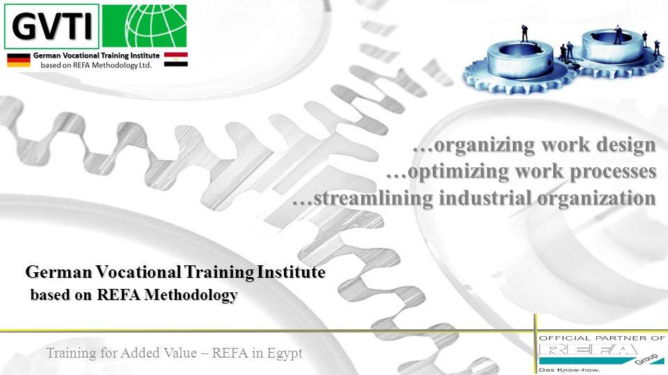 German Vocational Training Institute based on REFA Methodology