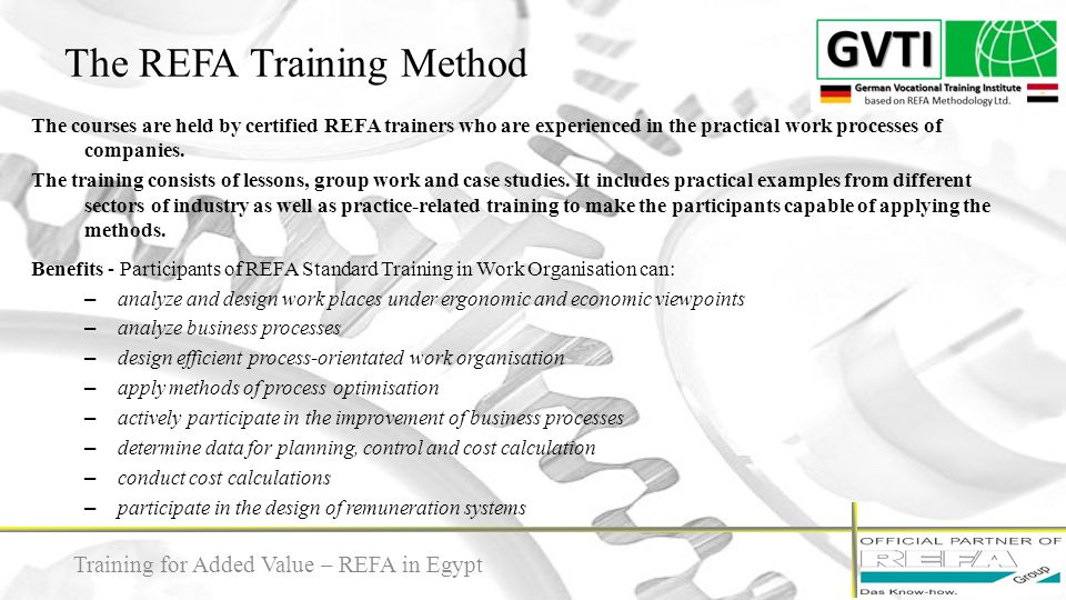 The REFA Training Method