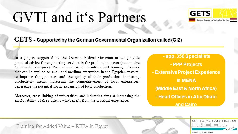 GVTI and it's Partners GETS - Supported by the German Governmental Organization called (GIZ)