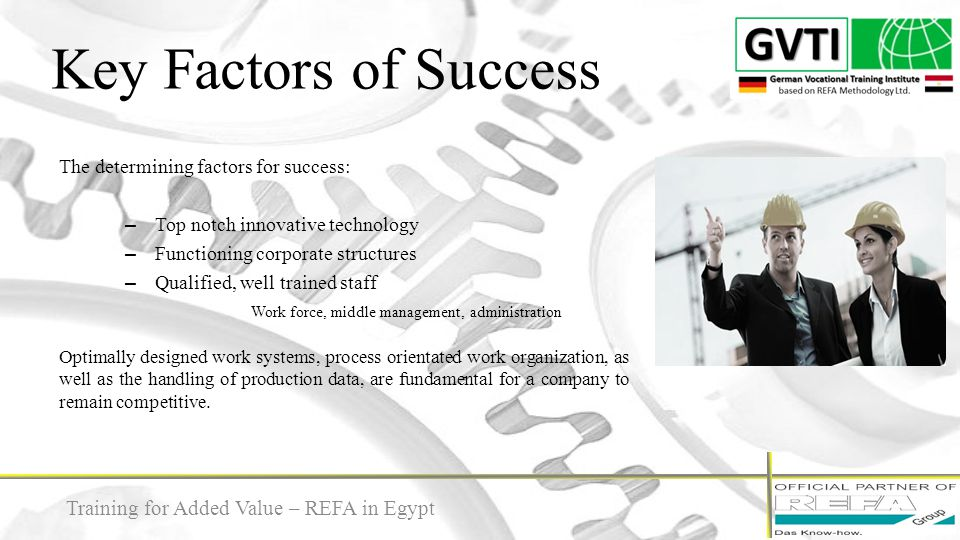 Key Factors of Success Training for Added Value – REFA in Egypt