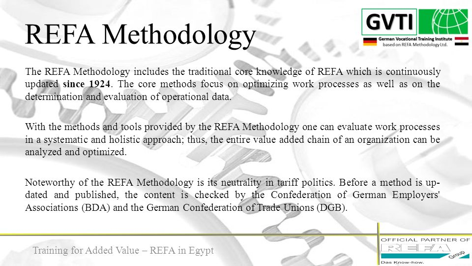 REFA Methodology