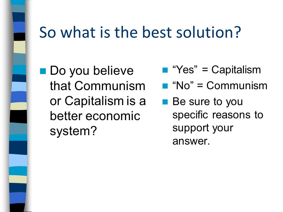 So what is the best solution