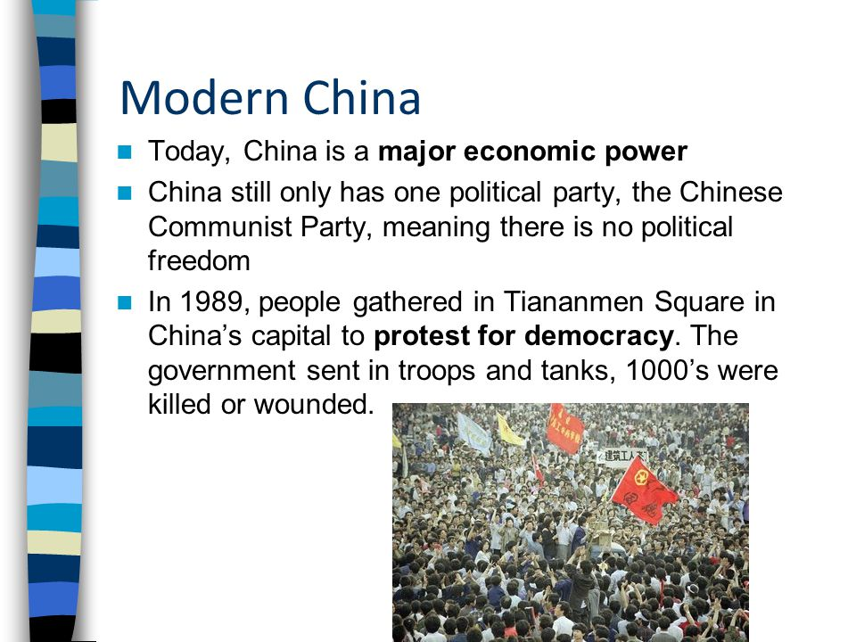 Modern China Today, China is a major economic power