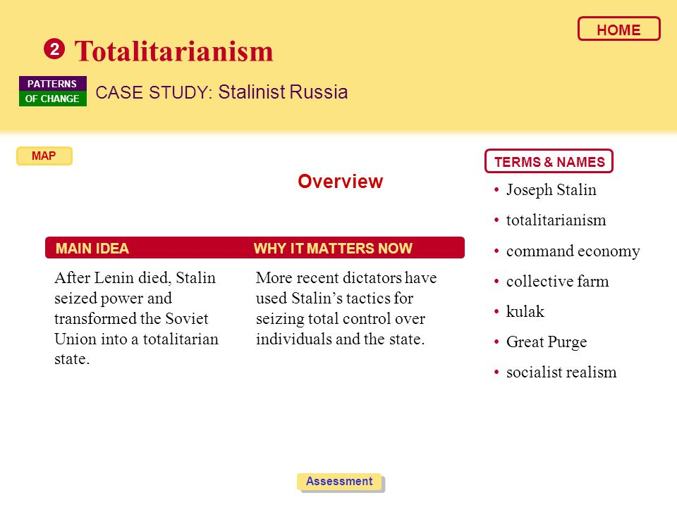 Totalitarianism Overview CASE STUDY: Stalinist Russia 2