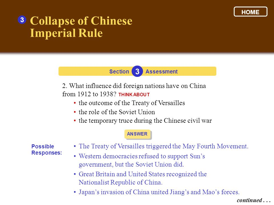 Collapse of Chinese Imperial Rule 3 3