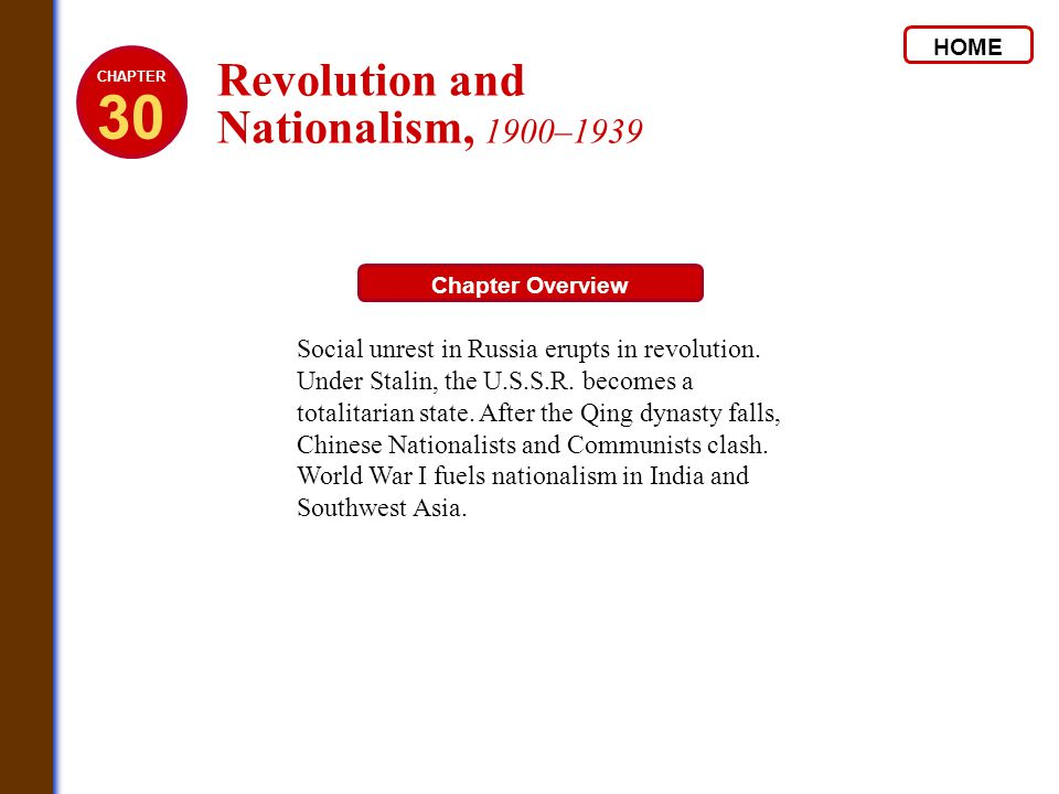 30 Revolution and Nationalism, 1900–1939