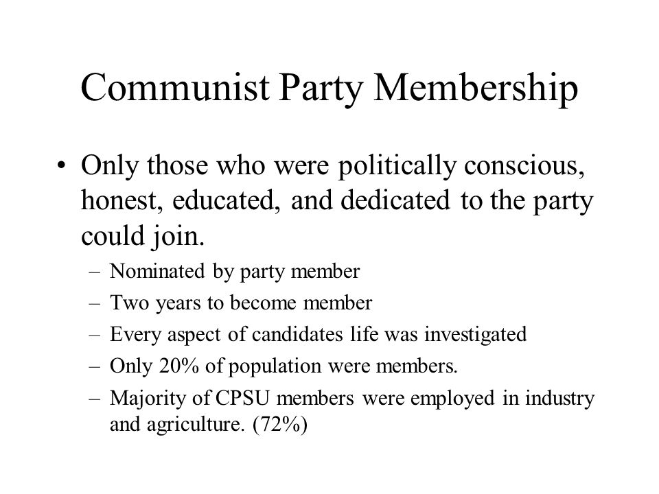 Communist Party Membership
