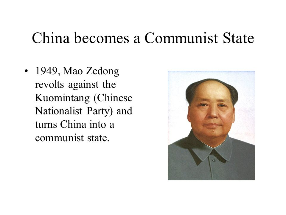 China becomes a Communist State