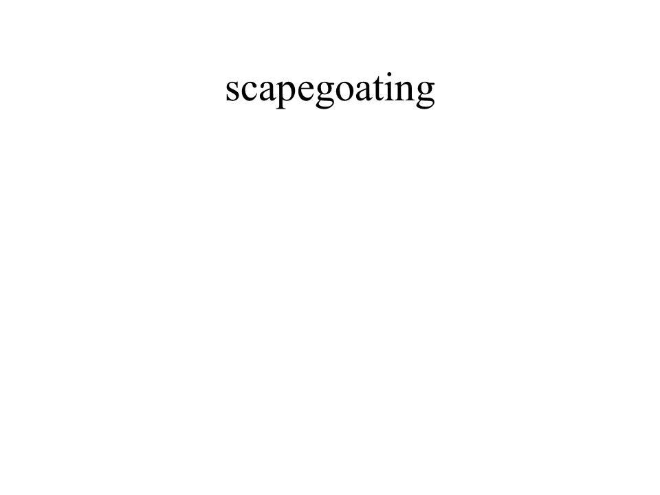 scapegoating