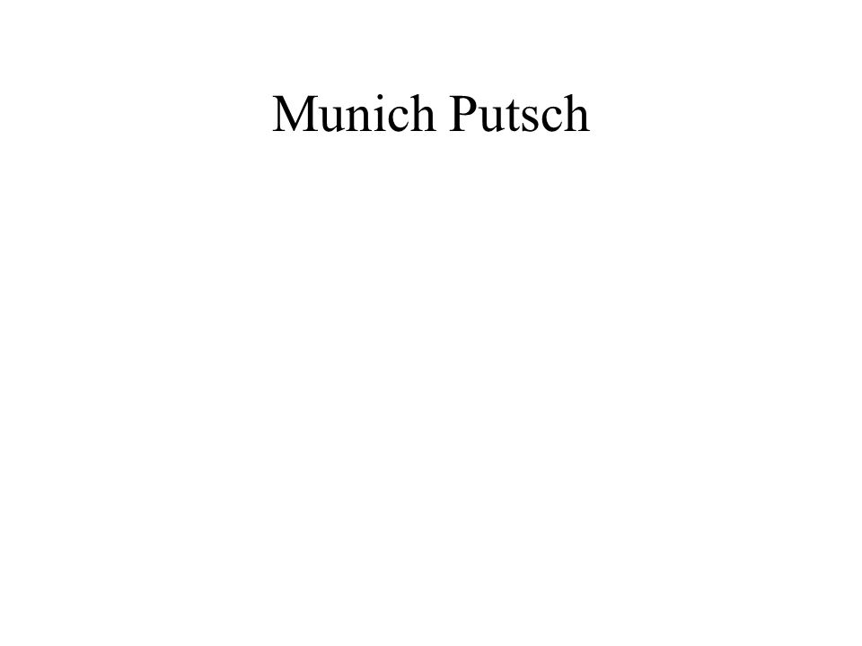 Munich Putsch
