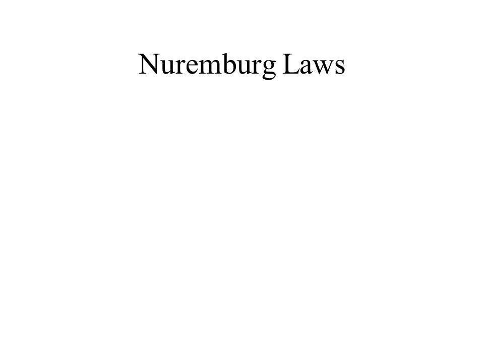 Nuremburg Laws