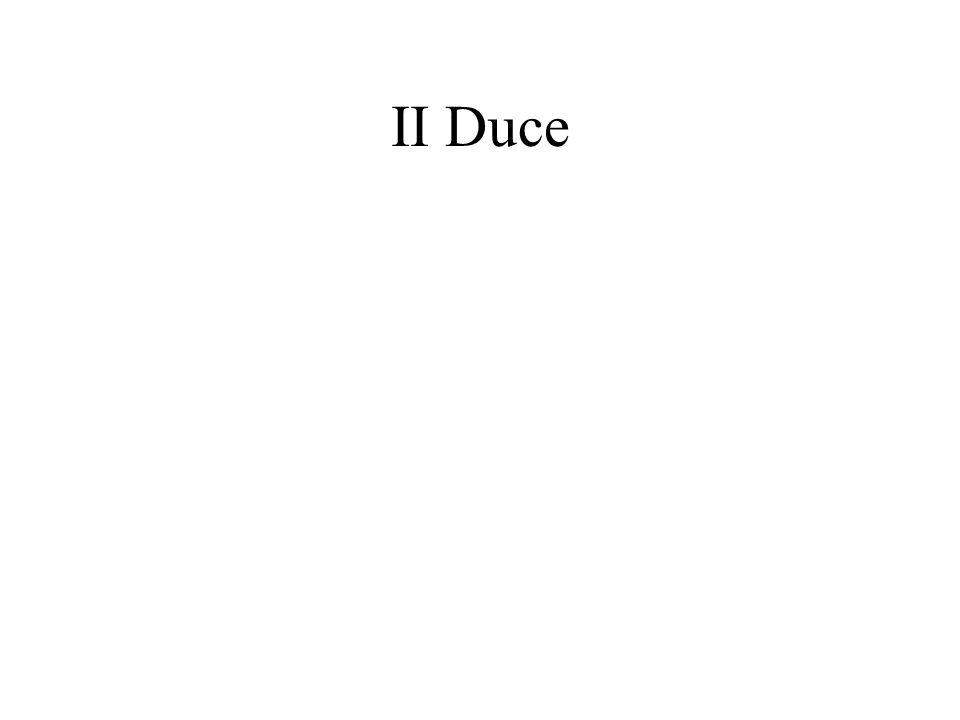 II Duce