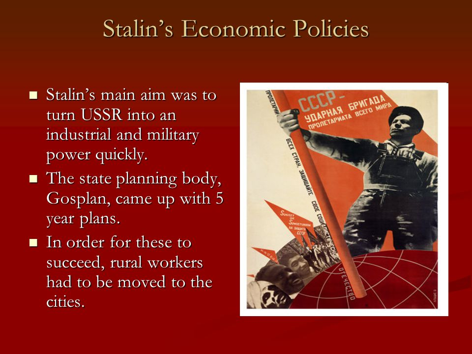 Stalin's Economic Policies