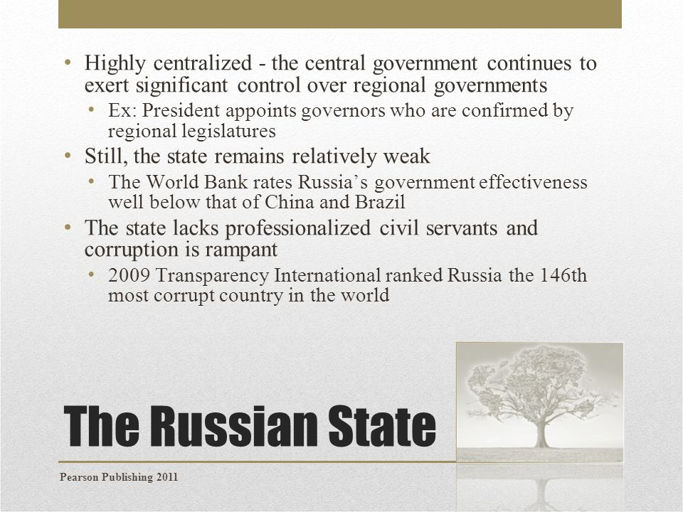 Highly centralized - the central government continues to exert significant control over regional governments