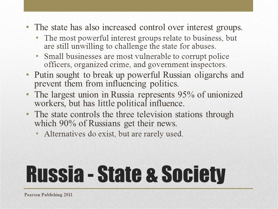 Russia - State & Society