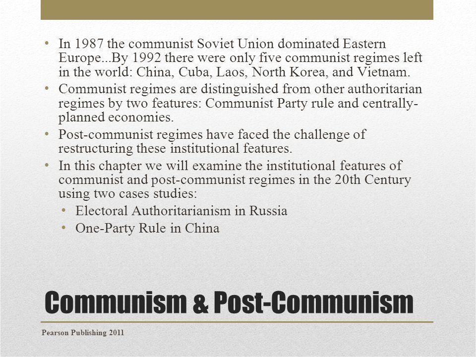 Communism & Post-Communism