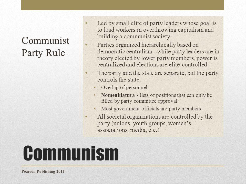 Communism Communist Party Rule