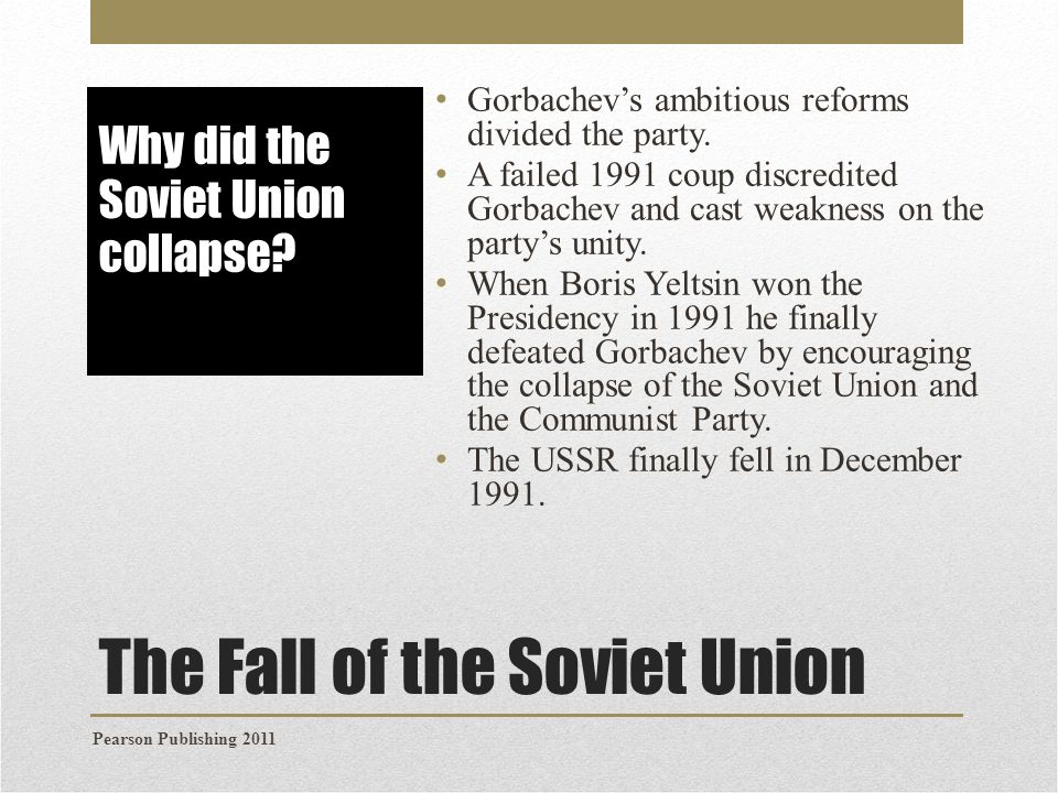 the fall of the communist regime in the soviet union How did the collapse of the soviet union affect south africa what was it like to be in the soviet union just after it collapsed what was it like to see the soviet union collapse.