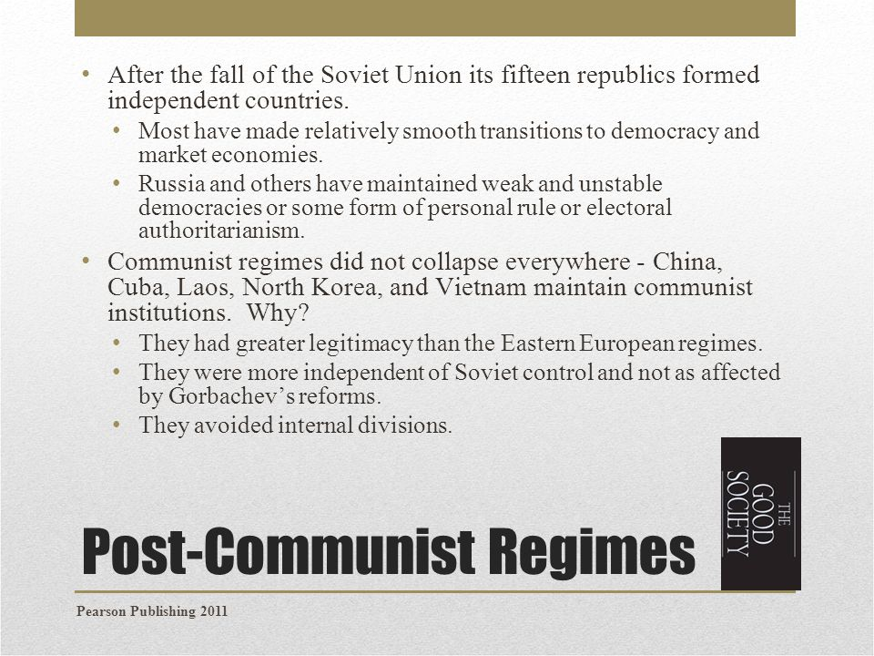 Post-Communist Regimes
