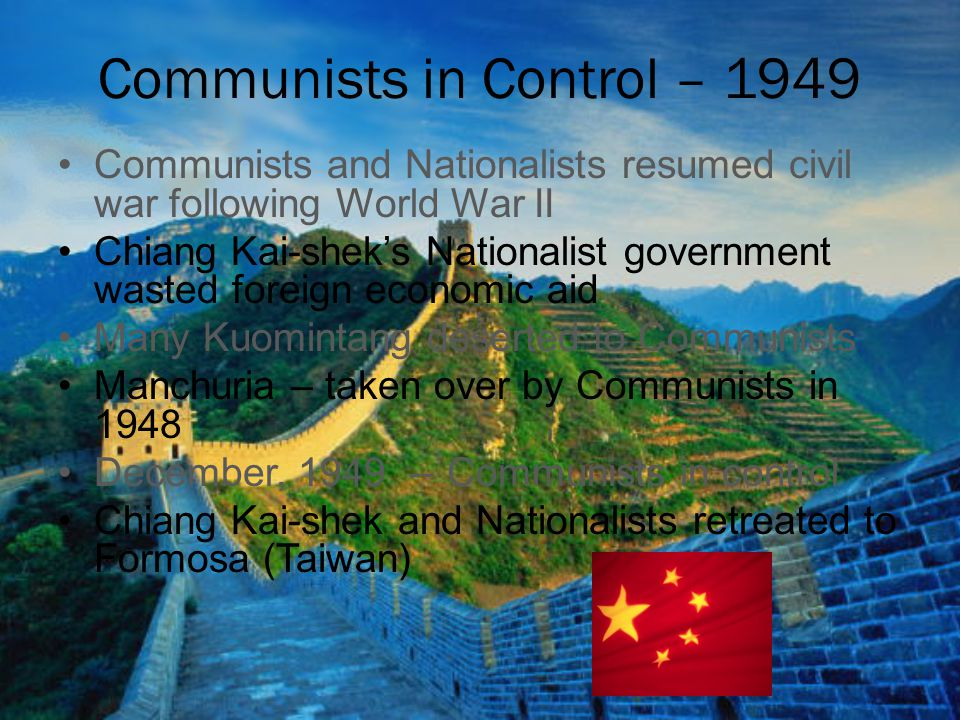 Communists in Control – 1949