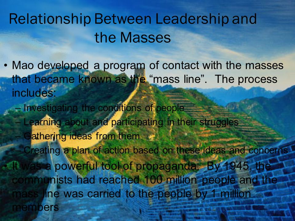 Relationship Between Leadership and the Masses
