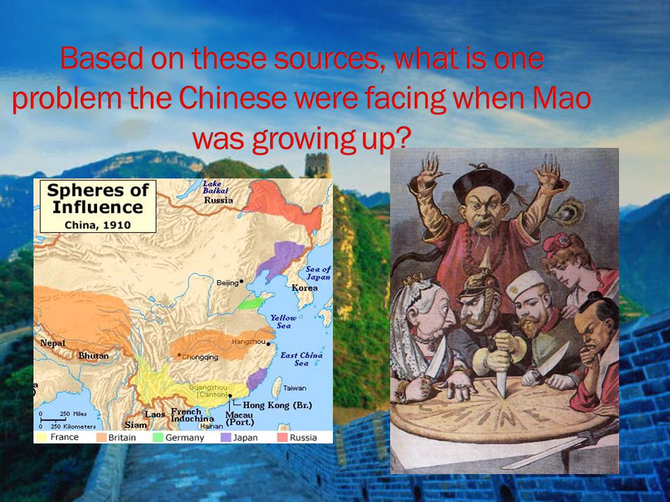 Based on these sources, what is one problem the Chinese were facing when Mao was growing up