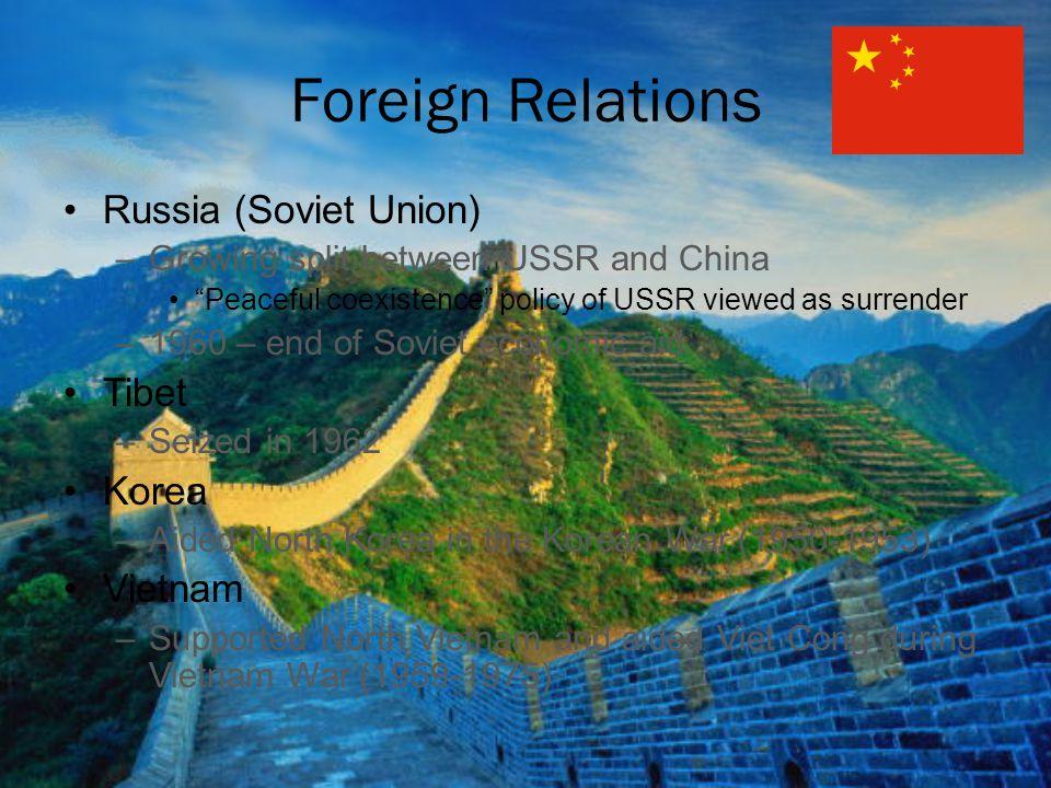 Foreign Relations Russia (Soviet Union) Tibet Korea Vietnam