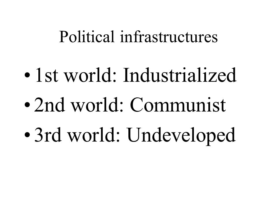 Political infrastructures