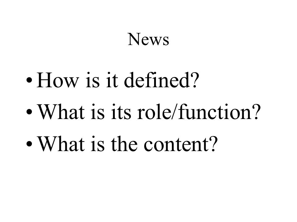 What is its role/function What is the content