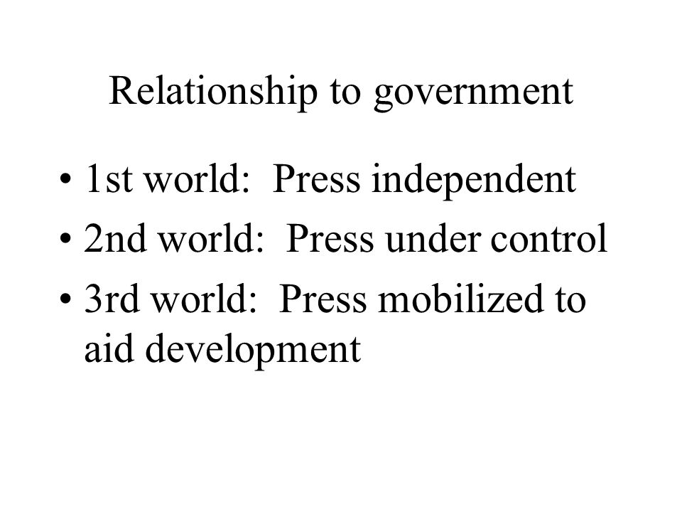 Relationship to government