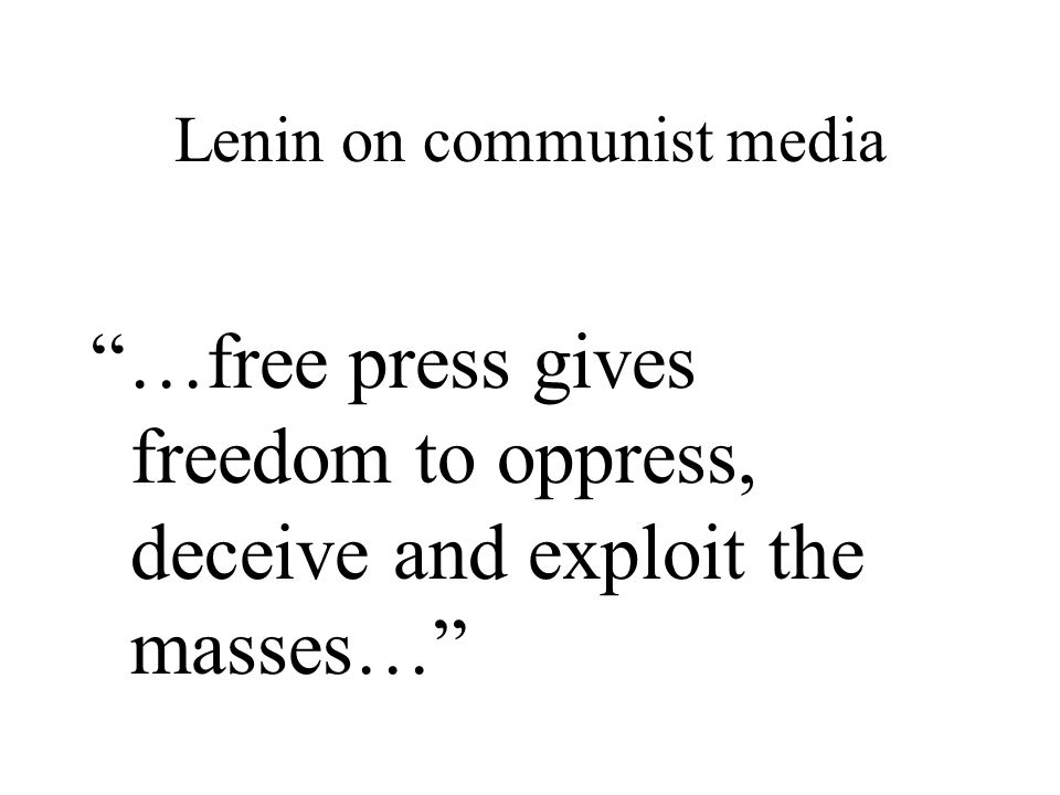 Lenin on communist media